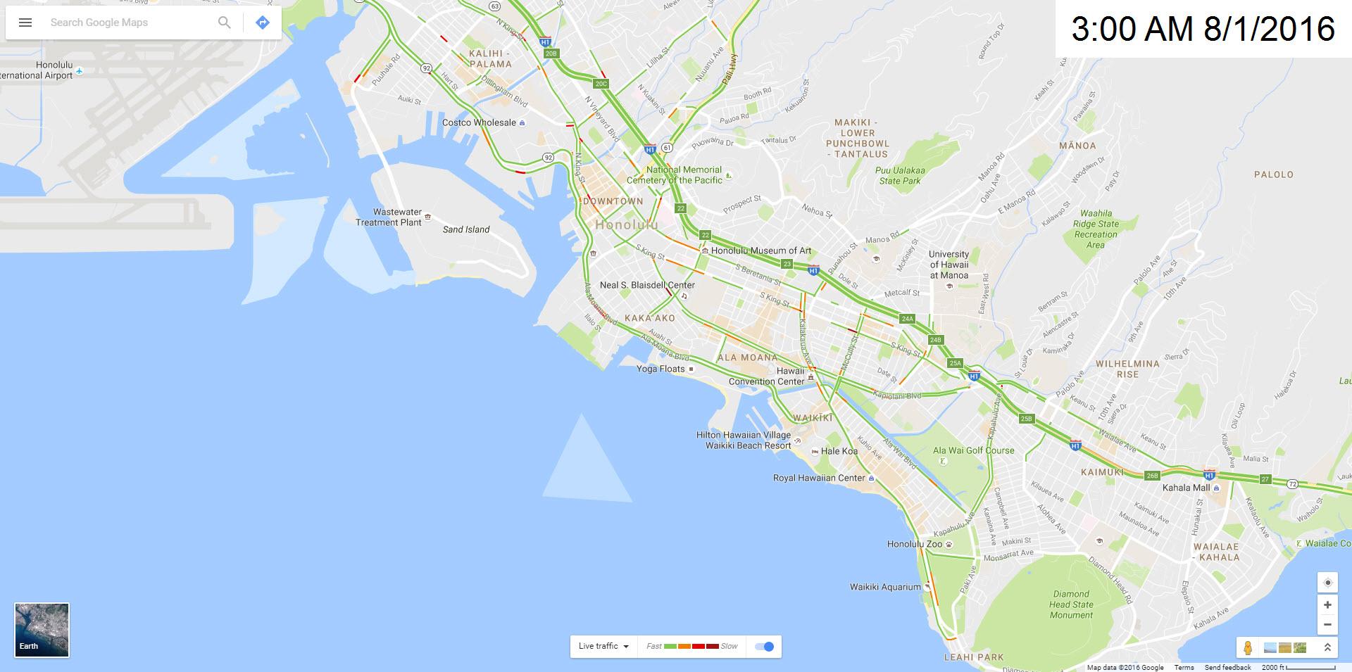 Honolulu Traffic Maps