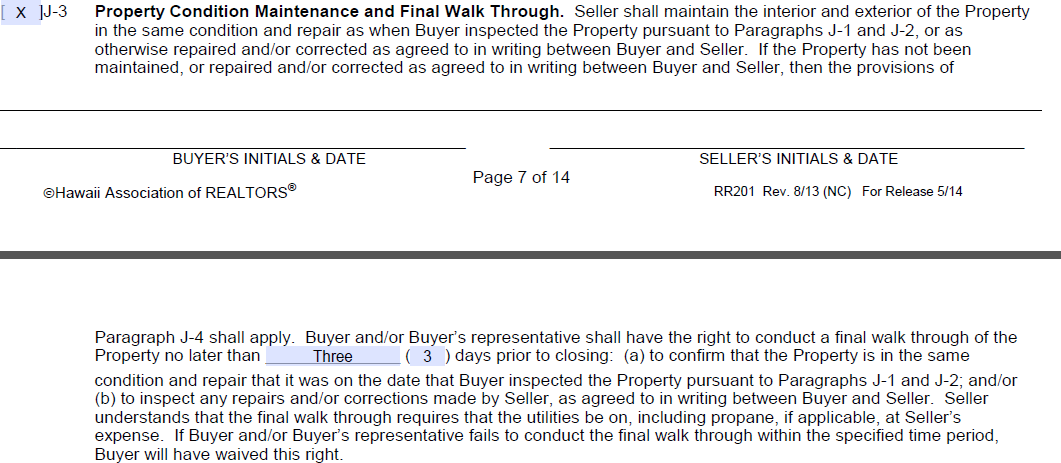 Oahu Real Estate Purchase Contract Help